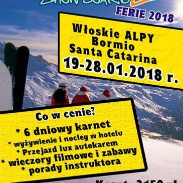 Ferie 2018 we włoskich Alpach – są jeszcze wolne miejsca!